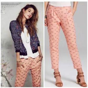 Free People Harem Gypsy Linen Ikat Pants
